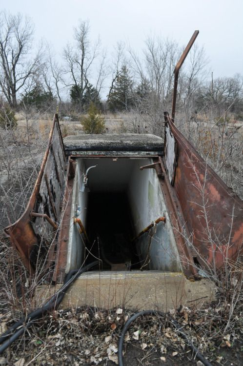 Doors leading underground into an abandoned Nike missile silo Source