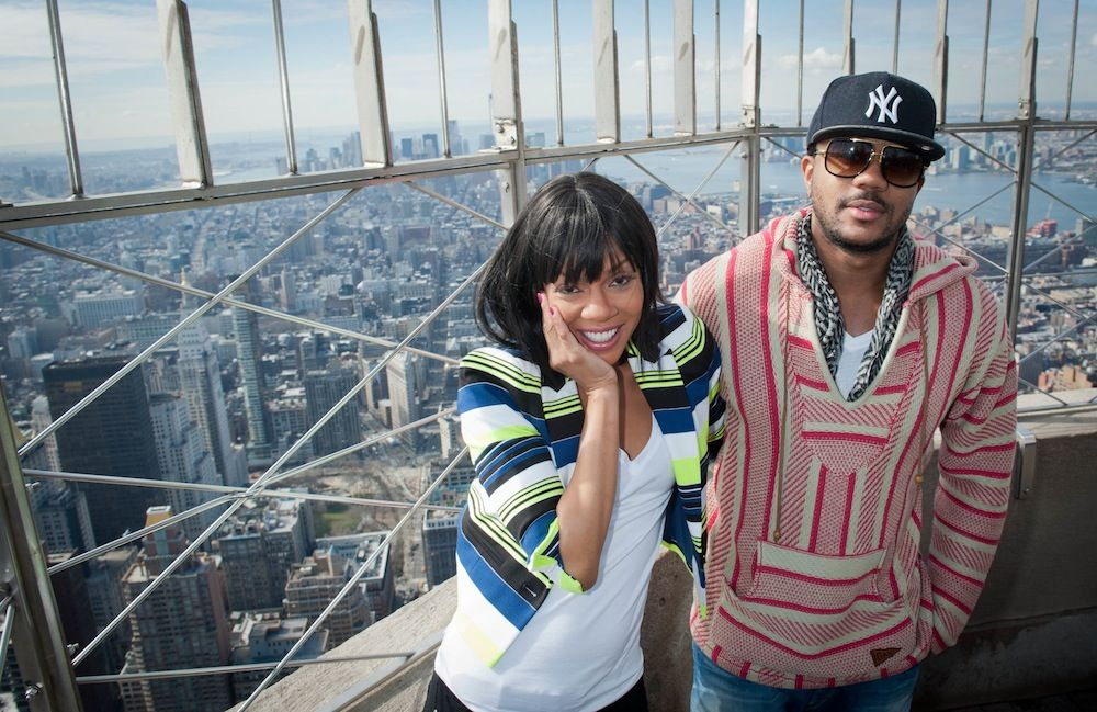 "March 26, 2013: Wendy Raquel Robinson and Hosea Chanchez, stars of The Game on BET, visited the 86th floor Observatory and VIP 103rd floor this morning. The season premiere (and 100th episode) of ""The Game"" airs tonight at 10:00 p.m. ET."