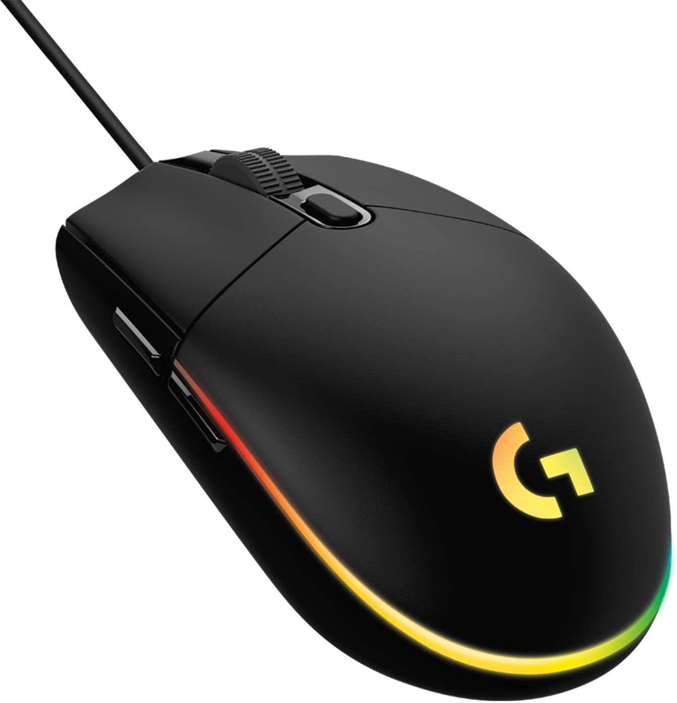 Logitech g203 lightsync mouse gaming con illuminazione rgb