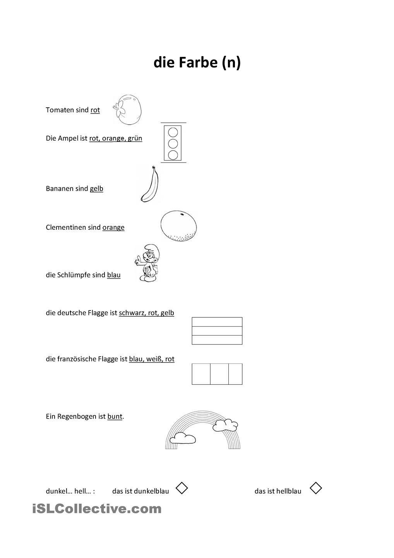 die farben deutsch pinterest farben arbeitsbl tter und deutsch lernen. Black Bedroom Furniture Sets. Home Design Ideas