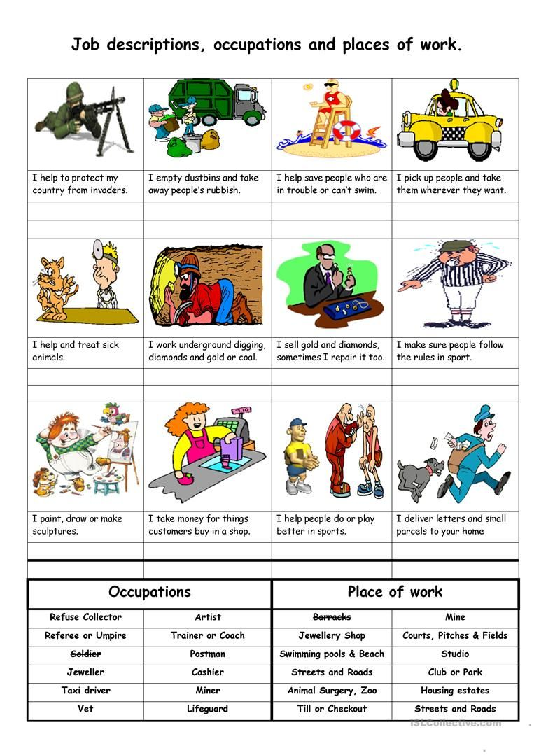 hight resolution of Job descriptions
