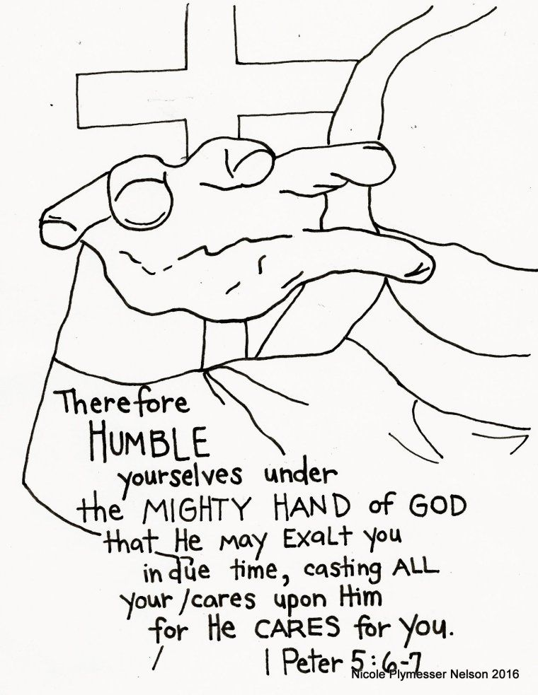 Humble Yourself Coloring Pages Bible Coloring Pages