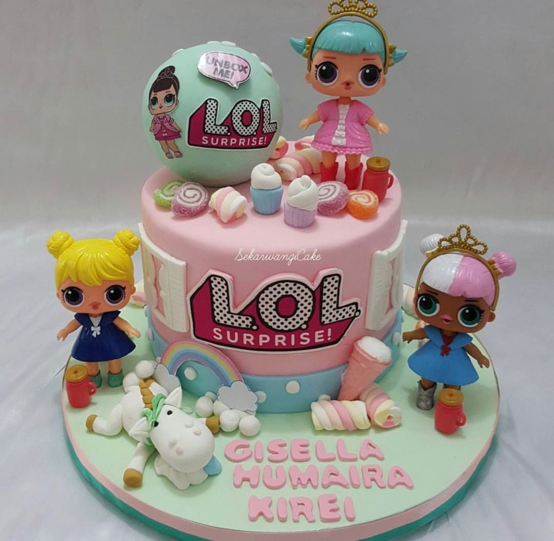 Lol Surprise Dolls Birthday Cake Lol Surprise Party Ideas Doll