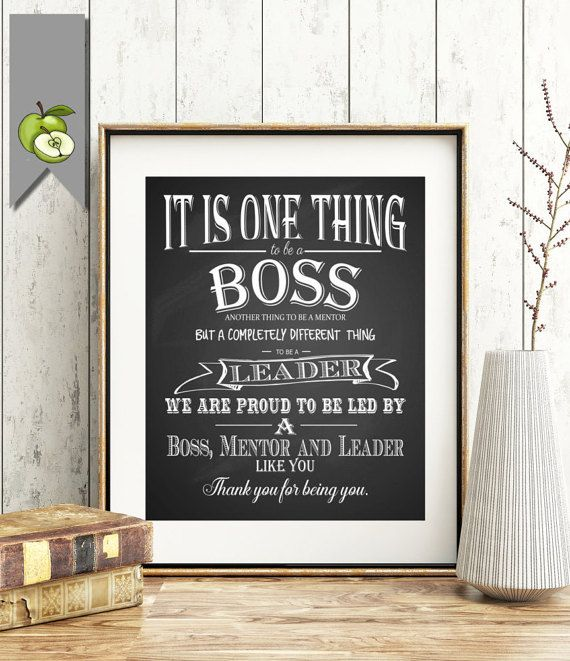 Wedding Gift For Boss: Boss Week Thank You Gift DIY Printable Instant Download
