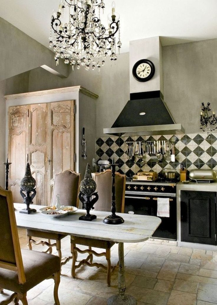 60 Stunning French Country Kitchen Decor Ideas - redecorationroom #countrykitchens