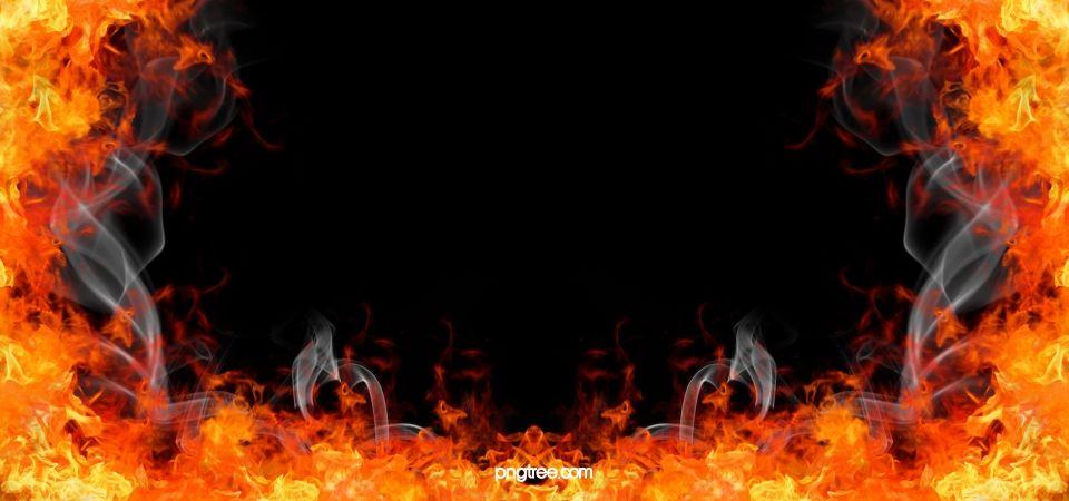 Burning Fire Background กองไฟ นรก ร อน