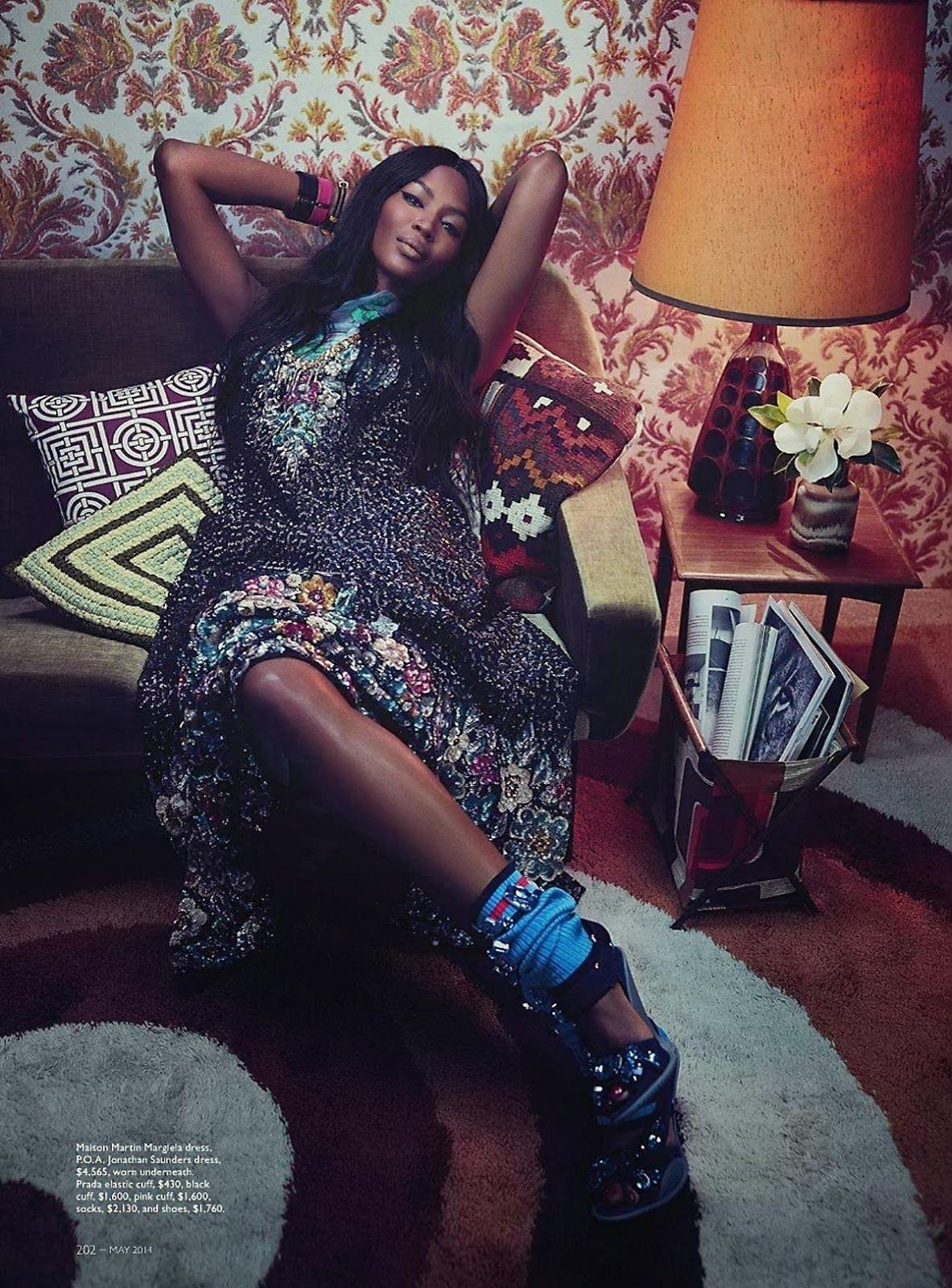 ☆ Naomi Campbell | Photography by Emma Summerton | For Vogue Magazine Australia | May 2014 ☆ #Naomi_Campbell #Emma_Summerton #Vogue #2014