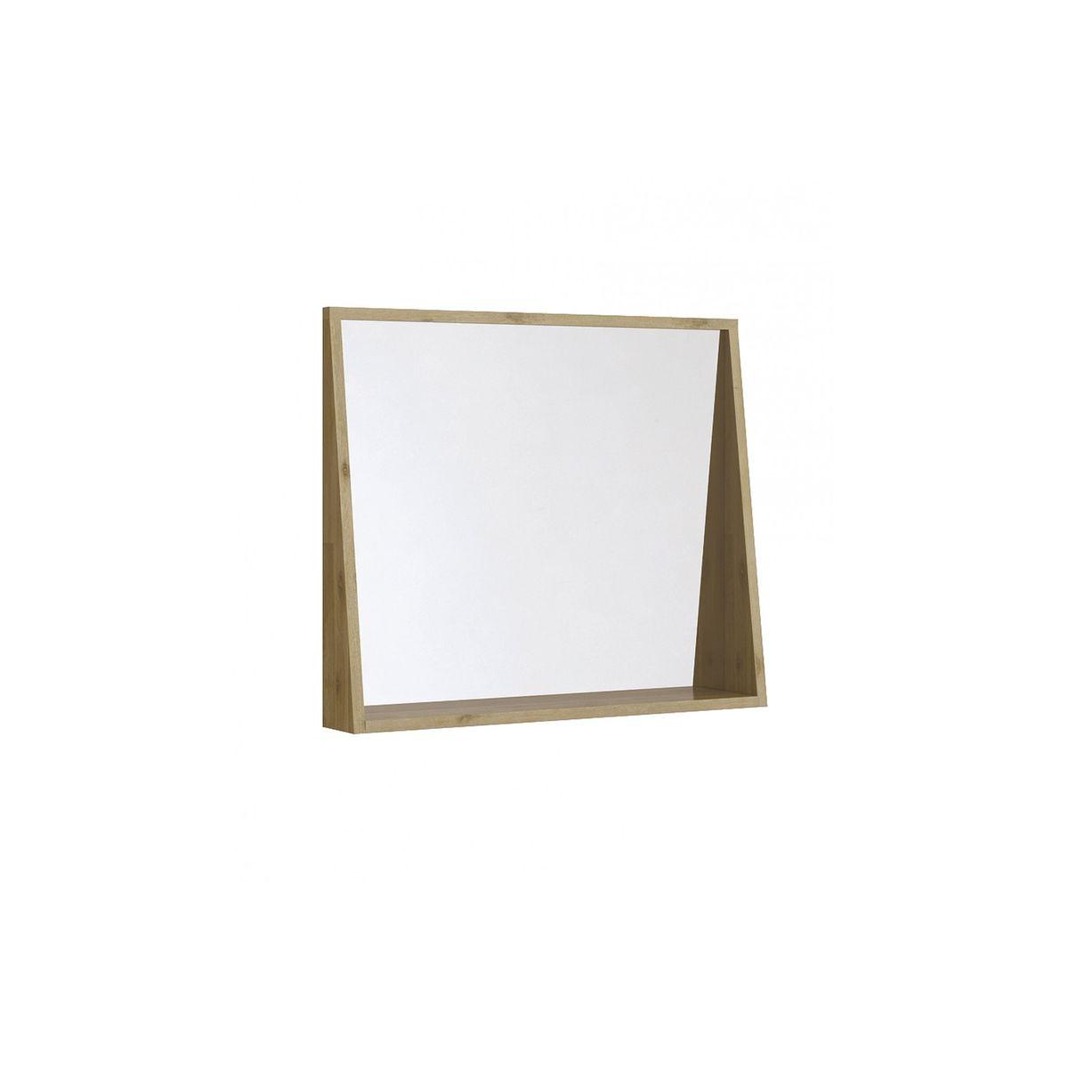 Tablette Salle De Bain 80 Cm miroir de salle de bain en bois massif - 80 cm - benoa