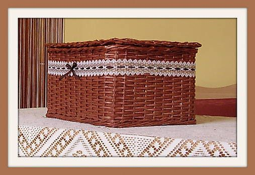 b5cf9d6f8 dvojfarebná uzávierka - postup   PAPIEROVÉ PLETENIE   Laundry basket,  Laundry a Basket