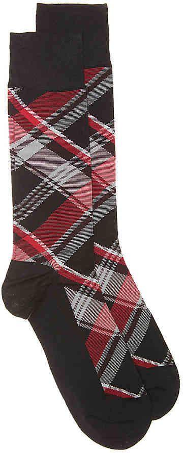 d0b8da9caffa Cole Haan Plaid Dress Socks - Men's | Products | Dress socks, Plaid ...