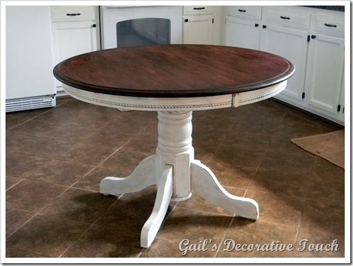 Love This Table Top Gel Stained With Mahogany Miniwax Gel Kitchen Table Makeover Stained Table Furniture Makeover