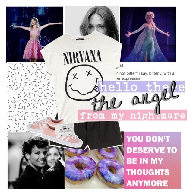 """""""☾""""the unsuspected victim"""""""" by everything-is-peachy ❤ liked on Polyvore featuring Disney, RED Valentino, Forever 21, adidas Originals and Blink"""
