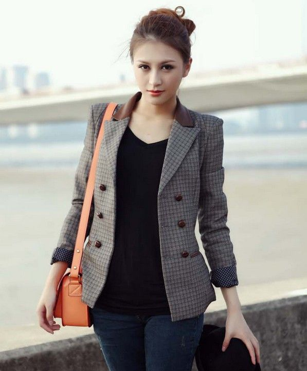 Cheap wear wide leg jeans, Buy Quality blazer jackets for women ...