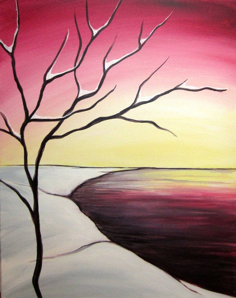 Easy Nature Painting Ideas : nature, painting, ideas, Painting, Ideas, Beginners, Canvas, Nature, Paintings,, Watercolor, Paintings, Abstract
