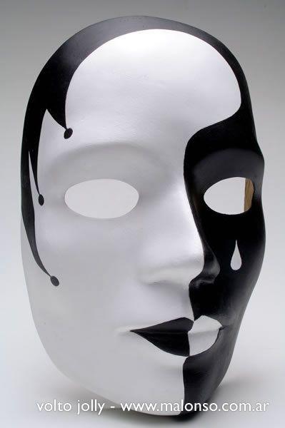 Resultado de imagen para mascaras de yeso de blanco y - Mascaras de terror ...