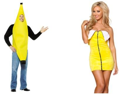 pointlessly gendered banana costume click thru for more halloween examples - Banana Costume Halloween
