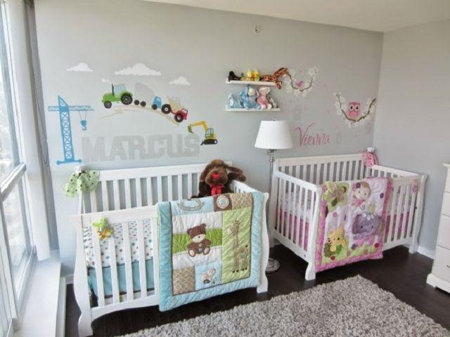 dormitorios para bebes gemelos o mellizos decoracion On decoracion habitacion mellizos nino y nina