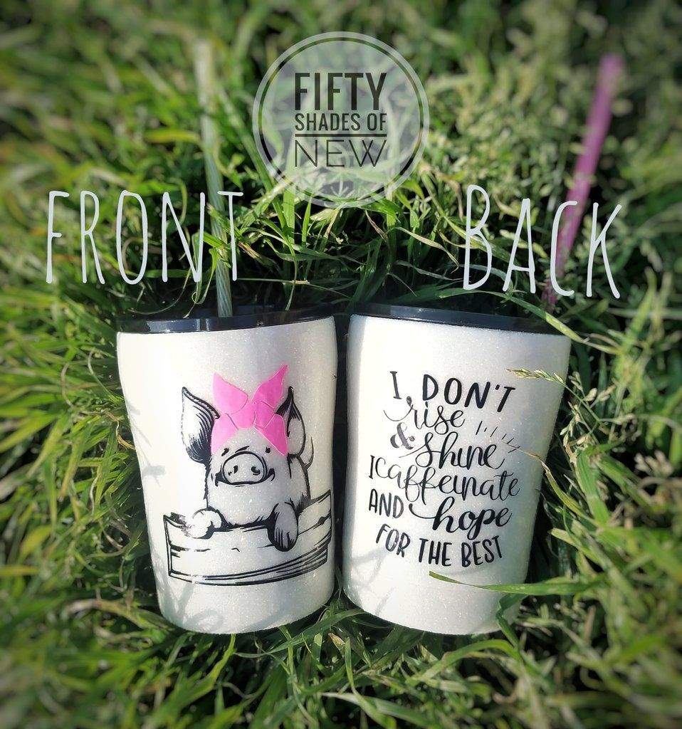 Pig With Bandana 10 Oz Cup Yeti Cup Designs Diy Cups Tumbler Designs