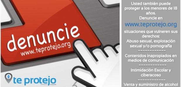 TeProtejo.org cuenta con el respaldo de Min TIC, ICBF, Telefónica, Foro de Generaciones Interactivas y el apoyo de Policía Nacional