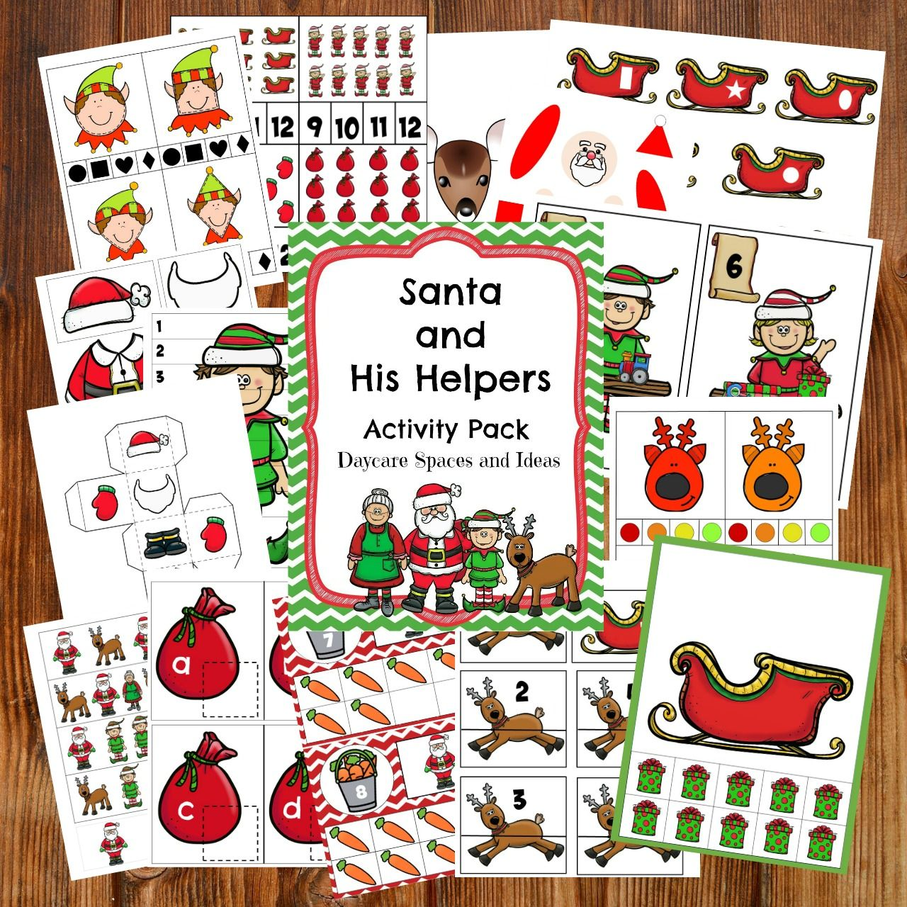 Santa And His Helpers Activity Pack