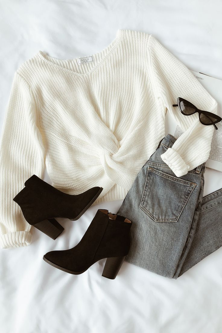 Halten Sie nahe Cremefarbener Frontpullover - Mode Trend #makeclothes