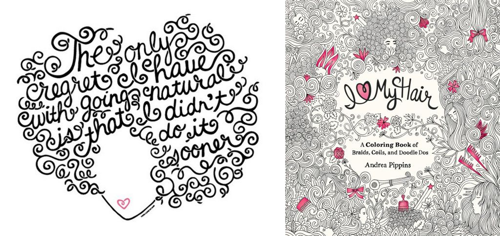 A Coloring Book For Adults I Love My Hair