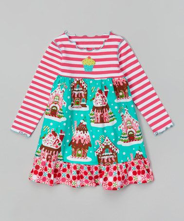 This Pink Amp Teal Gingerbread House Dress Toddler Amp Girls