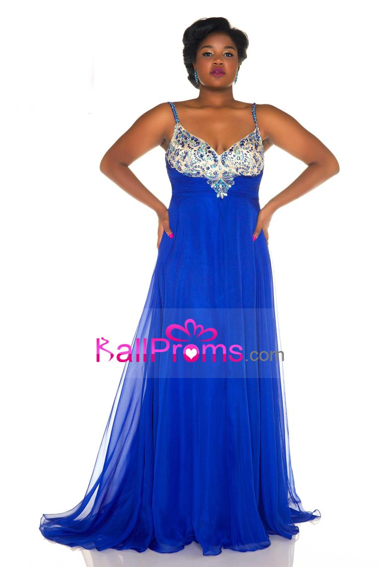 plus size spaghetti straps prom dresses a line chiffon with