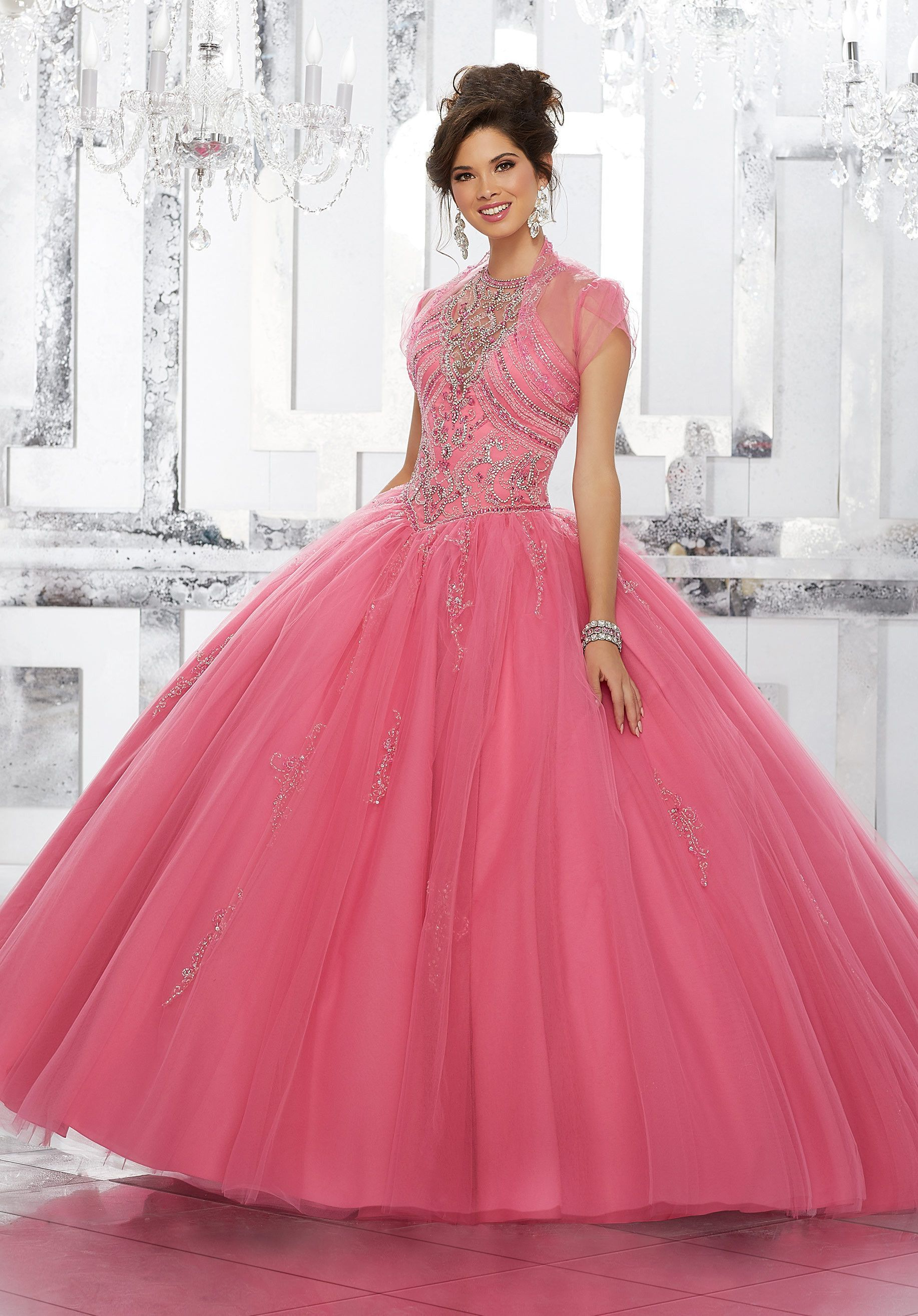 Illusion A-line Quinceanera Dress by Mori Lee Vizcaya Style 89145 ...