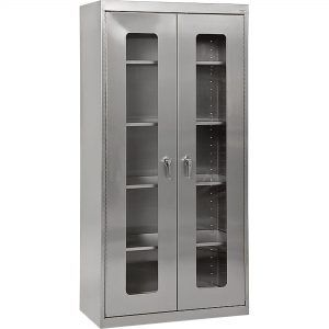 Prosource 42 Locking Steel Storage Cabinet Black