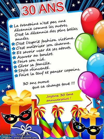 Texte Anniversaire 30 Ans Humour Homme Camping Les Auberges