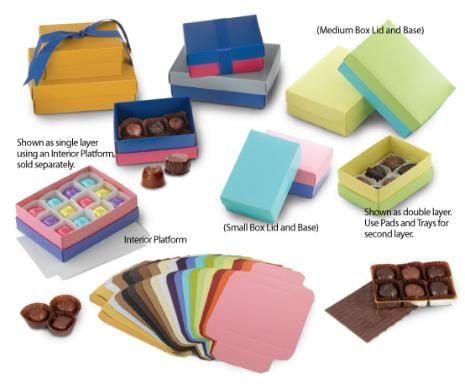 Mix and Match Candy Box Lids and Bases