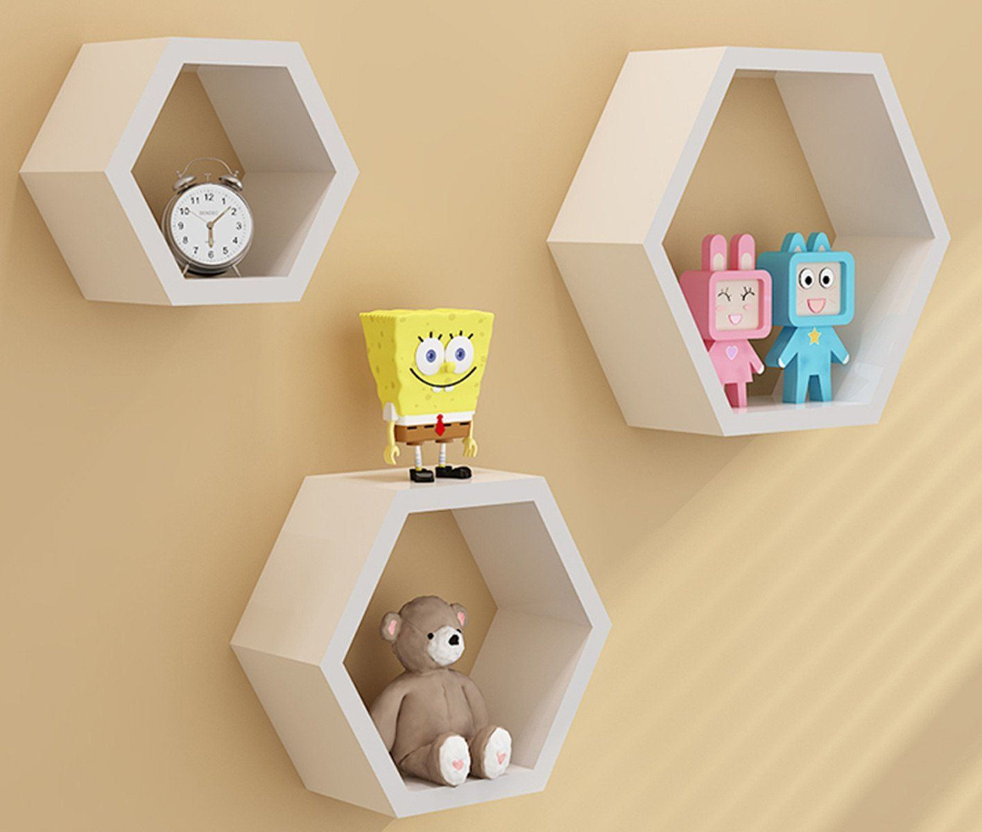 Amazon.com - Zjchao Home DIY Decorative Wall Floating Honeycomb ...