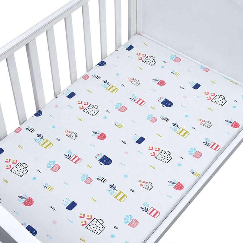 Cotton Crib Fitted Sheet Soft Breathable Baby Bed Mattress Cover Cartoon Newborn Bedding For Cot Baby Crib Sheets Baby Sheets Baby Bedding Sets