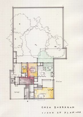 A Floor Plan A Day Keeps The Doctor Away Luis Barragan Casa Barragan 1948 Taubaya Luis Barragan House Architecture Plan Floor Plan Drawing