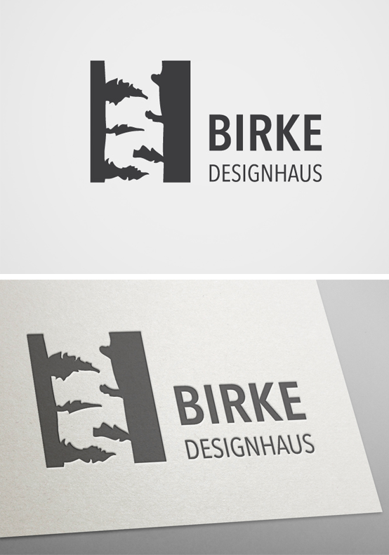 Logo Fur Birke Designhaus Inspiriert Durch Den Firmenname Design Corporate