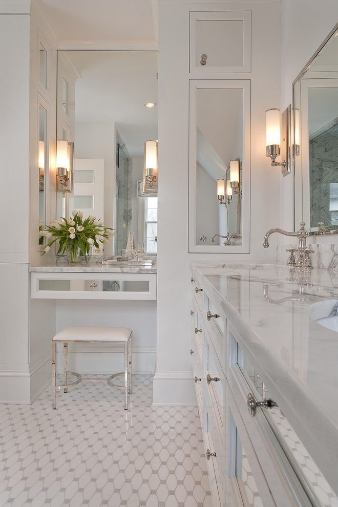 Modern Bathroom Mirrors Bathroom Traditional With Wall Sconces Marble Countertops Traditional Bathroom Designs Bathroom Interior Design Luxury Bathroom