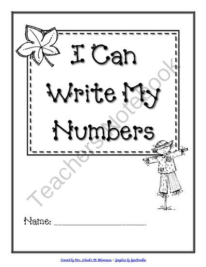 I Can Write My Numbers (A Preschool Number Writing Booklet