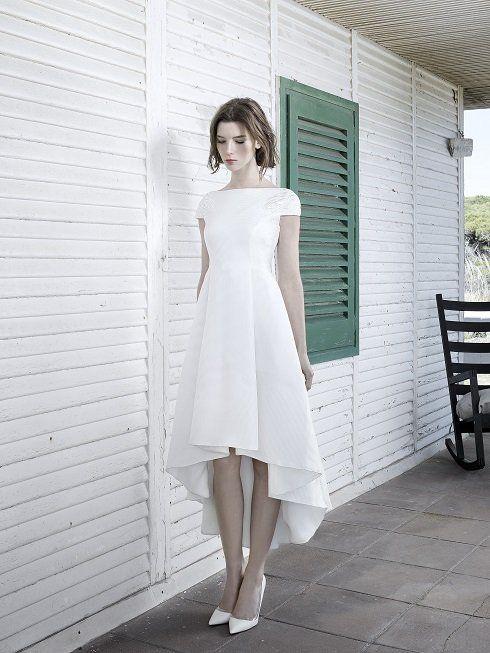 Vestido boda civil otono