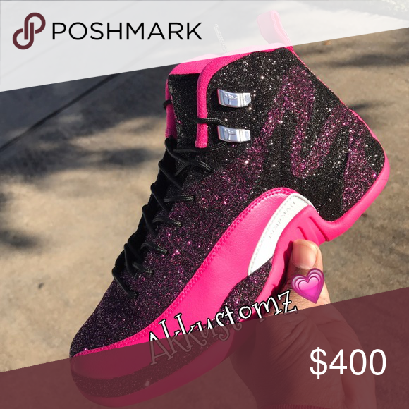 Custom Remix Vday Air Jordan 12s Custom Jordans Shoes Athletic Shoes ... ff647006af
