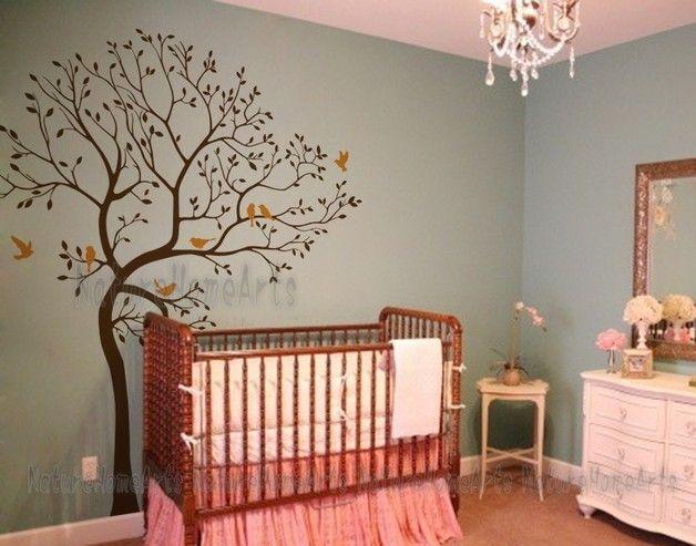 Wandtattoo sale wandtattoo wanddekoration baum mit for Wanddekoration babyzimmer
