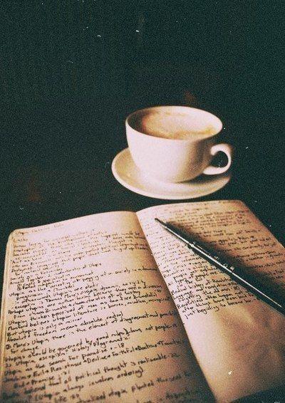 Imagem de coffee, book, and vintage
