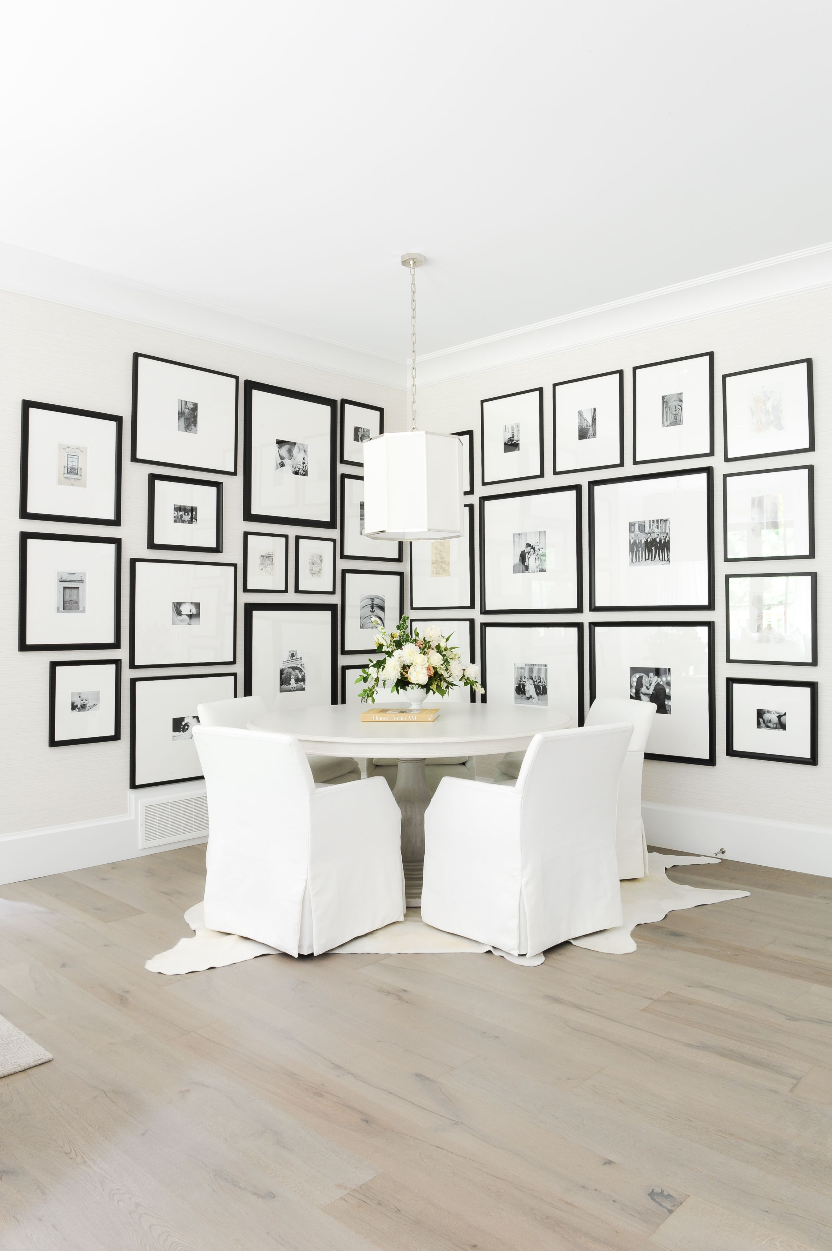The Grove Designed By Peridot Cowhide Rug Dining Room White Dining Table Grey Dining Tables