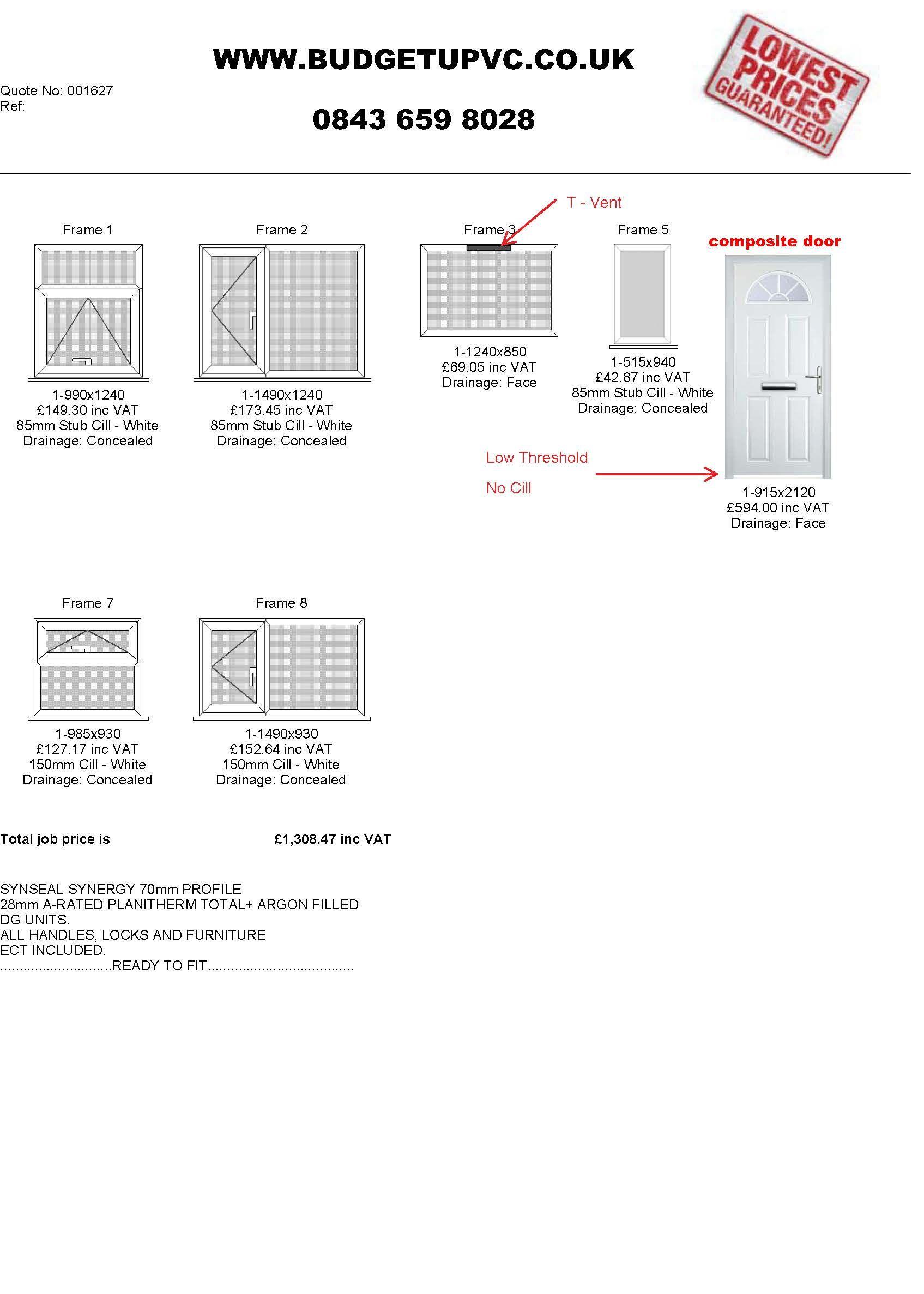 Buy Trade Diy Double Glazed Upvc Windows Doors Online Budgetupvc Glazing Diagram Budgetupvccouk
