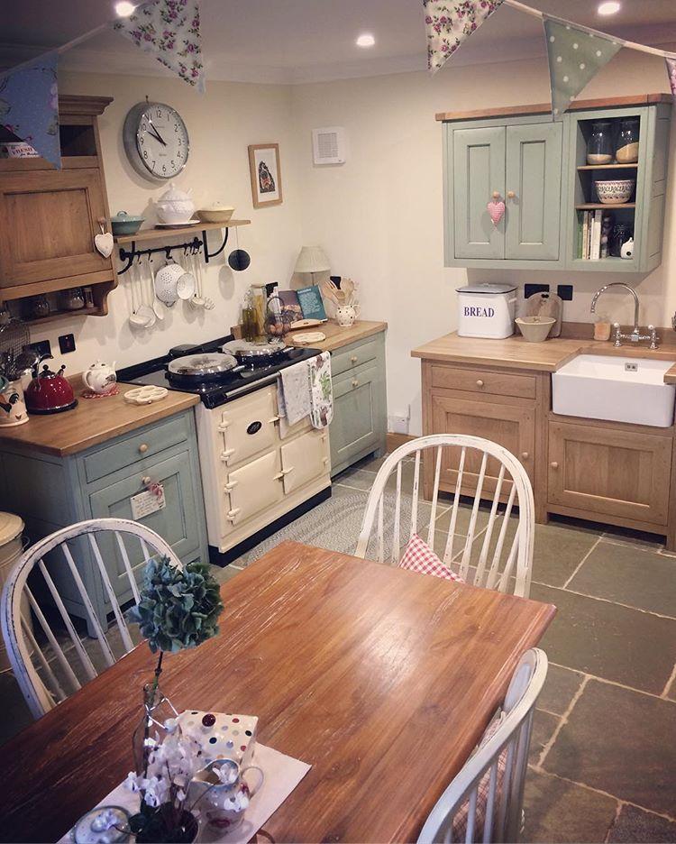 kitchen einrichten und wohnen pinterest k che shabby chic k che und wandfarbe wohnzimmer. Black Bedroom Furniture Sets. Home Design Ideas