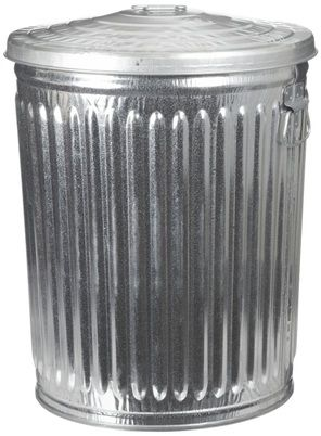 Trash Cans Raku Kiln Metal Trash Cans Galvanized Steel