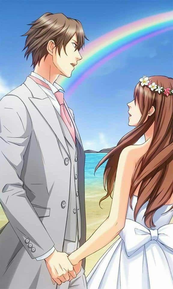 فلسفة الحب والمشاعر من خلال رسائل حب و صور انمي رومانسية 2018 جميلة جدا ومعبرة Coppie Anime Coppie Anime Carine Illustrazione Coppia