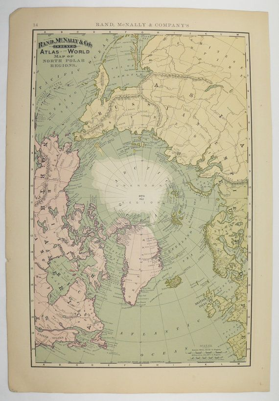 North pole map polar regions map 1896 vintage map of arctic eastern antique north pole map vintage arctic ocean polar regions original old 1896 world eastern hemisphere map gumiabroncs Choice Image