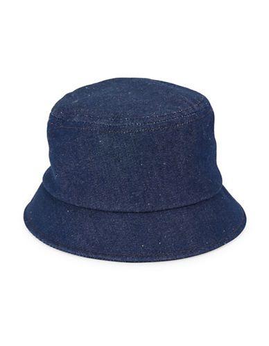 b122eb7480a Brooks Brothers Red Fleece Dark Wash Denim Bucket Hat Men s Blue Large