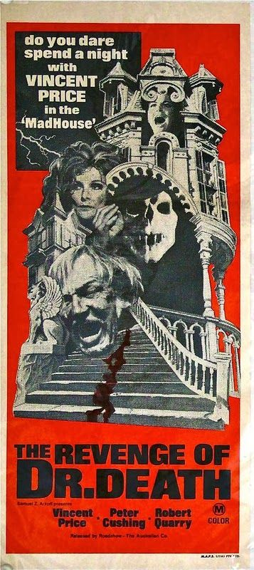 Madhouse 1974 Classic Horror Movies Posters Horror Movie Art